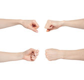 Hand gesture set fist Stock Photography