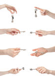 Hand gesture set keys Royalty Free Stock Photo