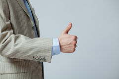 Hand gesture showing Royalty Free Stock Photos