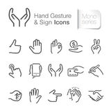 Hand gesture & sign icons. Hand gesture & sign icons. Come with layers Royalty Free Stock Photo