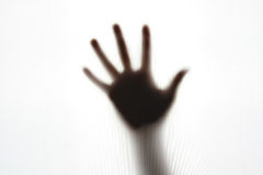 Hand gesture silhouette Royalty Free Stock Photo