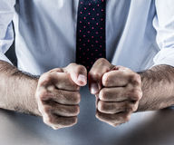 Hand gesture, symbol of courage, power, conviction, union or impatience Stock Images