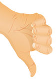 Hand gesture - thumb down. Vector illustration Royalty Free Stock Photo
