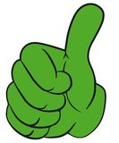 Hand gesture with thumb up. Stock Photo