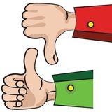 Hand gesture with thumb up. Art vector hand gesture like unlike with thumb up icon vector illustration