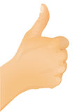 Hand gesture - thumb up Royalty Free Stock Photography