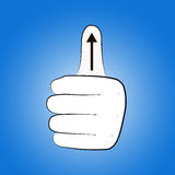 Hand with gesture THUMB UP Stock Image