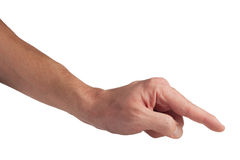 Hand gesture: touching Royalty Free Stock Photography