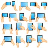 Hand Gesture for Touchscreen Stock Photo