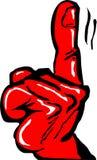 Hand gesture warning Royalty Free Stock Image
