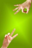 Hand gestures Stock Image