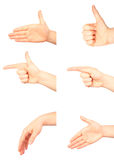 Hand gestures Stock Photography