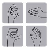 Hand gestures design. Vector illustration eps10 graphic Royalty Free Stock Image
