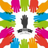 Hand gestures design. Vector illustration eps10 graphic Stock Images