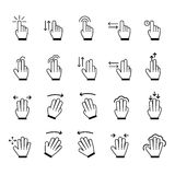 Hand Gestures icon set. Vector Illustration Royalty Free Stock Photo