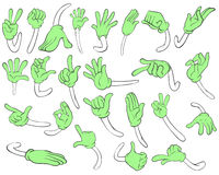 Hand gestures. Illustration of different hand gestures Royalty Free Stock Photo