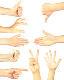 Hand gestures isolated royalty free stock image