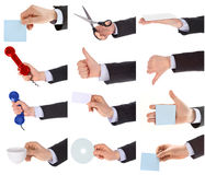 Hand gestures set stock photography