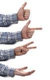 Hand gestures set Stock Image