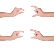 Hand gestures set of female isolated Royalty Free Stock Photo