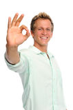 Hand gestures in studio Royalty Free Stock Photography