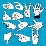 Hand gestures and symbols Royalty Free Stock Photo
