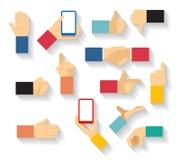 Hand gestures vector Stock Photo