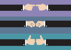 Hand Gestures Vector Illustration Stock Images