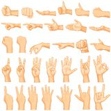 Hand Gestures. Vector illustration of collection of hand gestures Royalty Free Stock Images