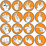 Hand gesturing Royalty Free Stock Photo
