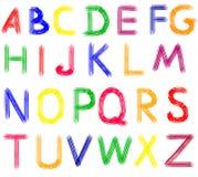 Hand getrokken abc brieven. stock illustratie