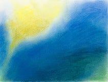 Kleurrijke hand getrokken illustratie van abstracte samenstelling Royalty-vrije Stock Foto