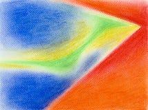 Kleurrijke hand getrokken illustratie van abstracte samenstelling Royalty-vrije Stock Afbeelding