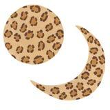 Hand getrokken acrylmaanfasen met luipaardvlekken royalty-vrije illustratie