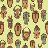 Hand getrokken Afrikaanse maskers Royalty-vrije Stock Afbeelding