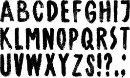 Hand getrokken alfabet royalty-vrije illustratie