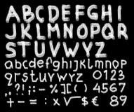 Hand getrokken alfabet Stock Fotografie