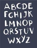 Hand getrokken Alfabet ABC bevat geschilderde brieven Stock Illustratie