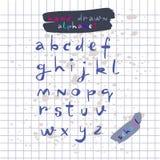 Hand getrokken alphabet3 Royalty-vrije Stock Afbeelding
