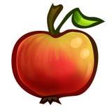 Hand getrokken appel Stock Afbeeldingen