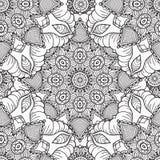 Hand getrokken artistiek etnisch sier gevormd bloemenkader Royalty-vrije Stock Afbeeldingen