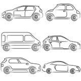 Hand getrokken auto stock illustratie