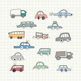 Hand getrokken Autokrabbels Vector illustratie Royalty-vrije Stock Afbeeldingen