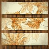 Hand Getrokken Autumn Background. royalty-vrije illustratie