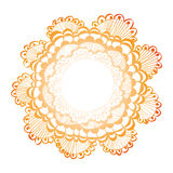Hand Getrokken Backgound-bloem royalty-vrije illustratie