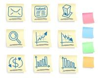 Hand getrokken bedrijfspictogramreeks Stock Afbeeldingen