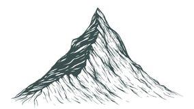 Hand getrokken berg stock illustratie