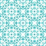 Hand getrokken blauw ornament naadloos patroon Royalty-vrije Stock Afbeeldingen