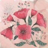 Hand getrokken bloemen Stock Foto