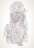 Hand getrokken bloemenachtergrond Stock Afbeelding